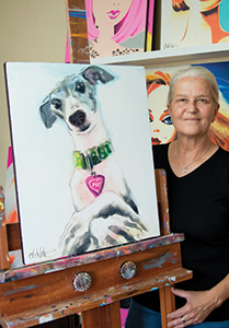 Debbie Curtis with a Pet Portrait