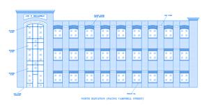 blueprint of new building in downtown Edmond
