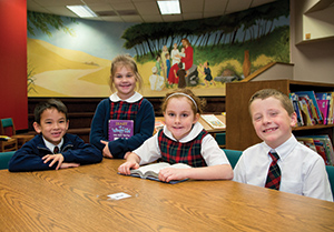 Children at St. Elizabeth Ann Seton Catholic School