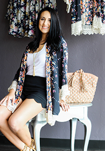 Brittany Thompson of Deer Creek Boutique modeling some favorite summer fashion trends