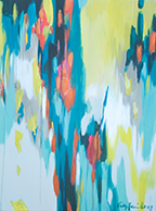 Yellow and Turquoise Abstract